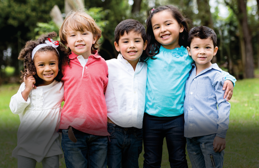 Kids of Diverse race and ethnicity