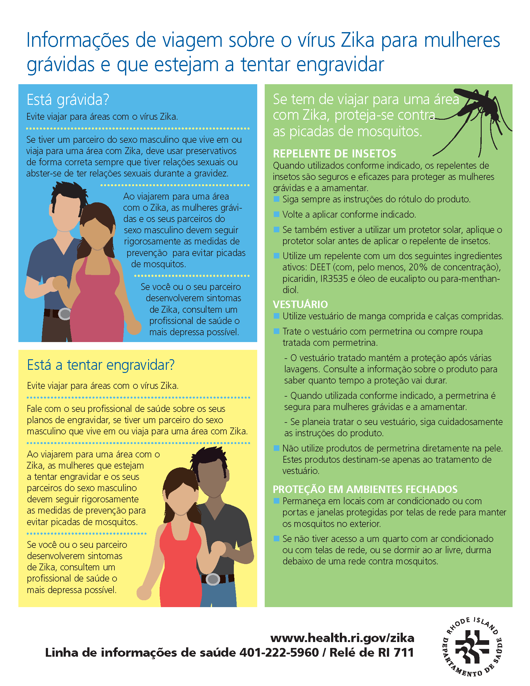 Zika Virus Travel Information for Pregnant Women and Women Trying to Become Pregnant (Portuguese)