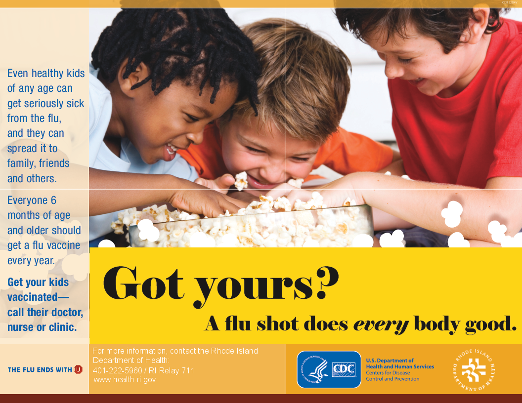 Flu vaccination - children view