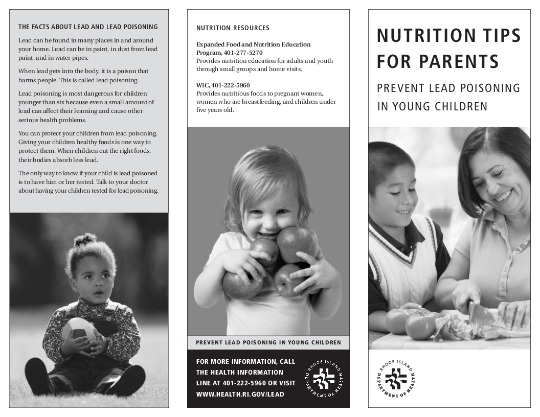 Lead Poisoning: Nutrition Tips For Parents
