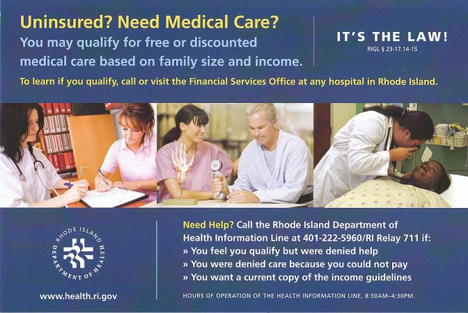 Uninsured?  Need Medical Care?