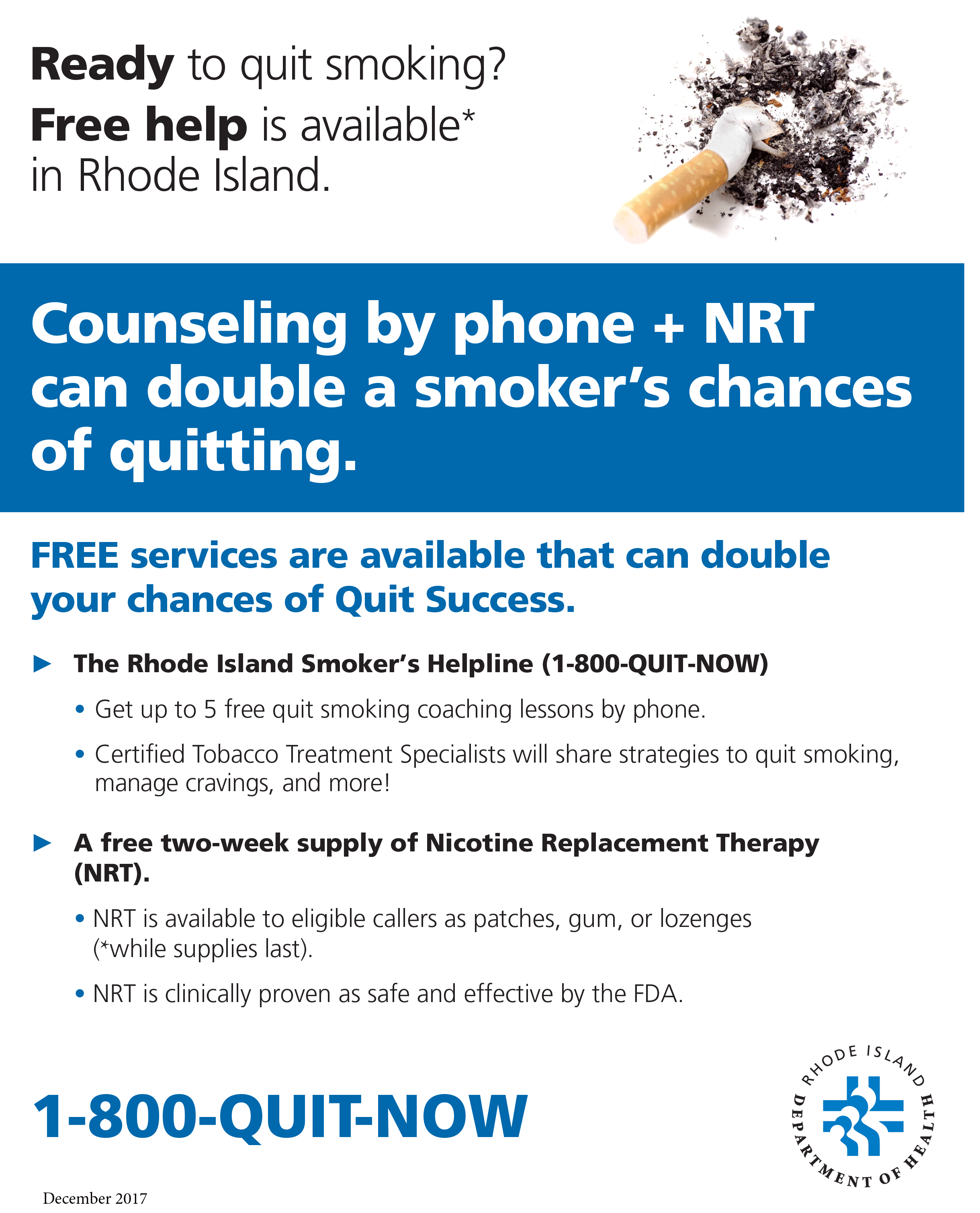 Ready to Quit? Free Help Is Available in RI (Available as online PDF only to download.)