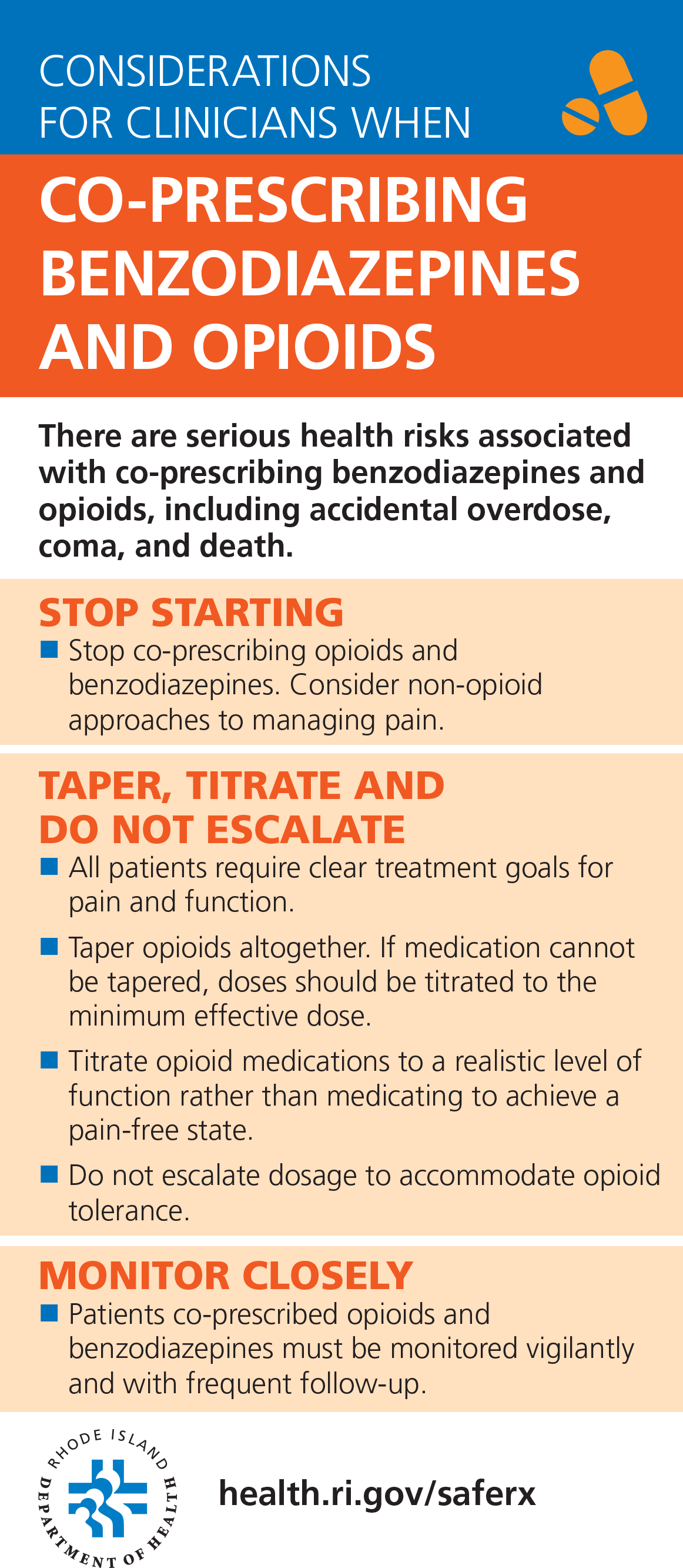 Considerations for Clinicians when co-prescribing Benzodiazepines and Opioids