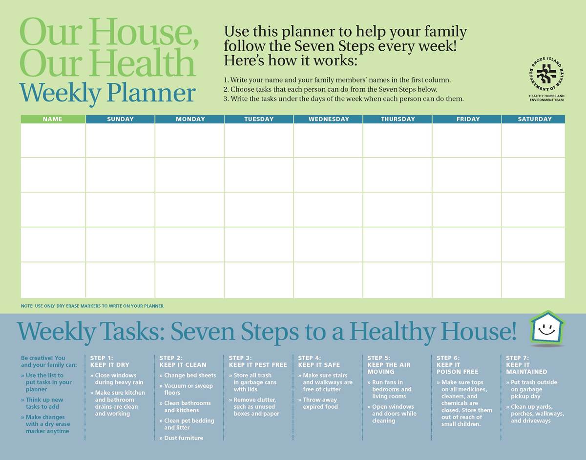 Our House, Our Home  Weekly Planner