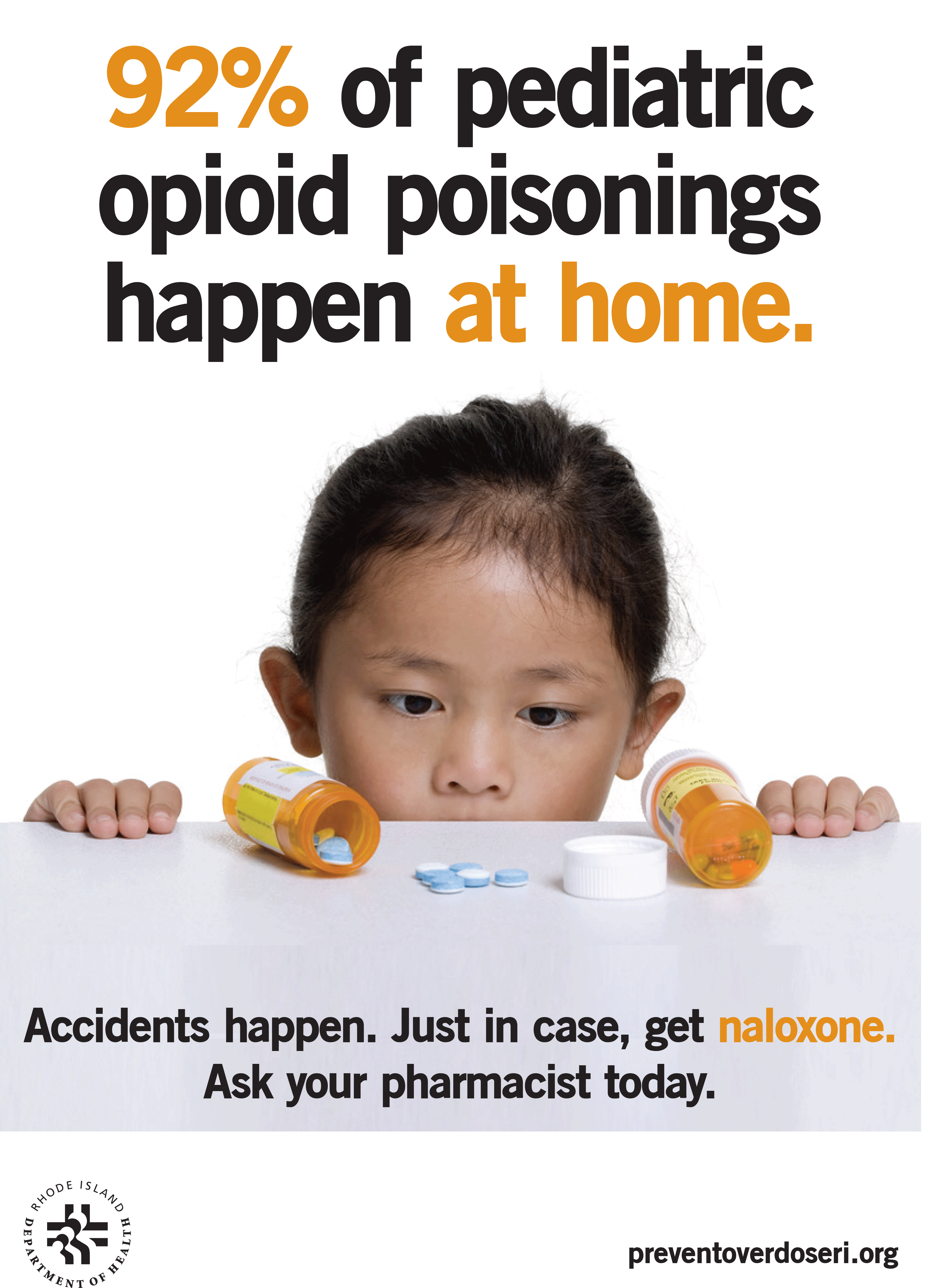 92 percent of pediatric opioid poisonings happen at home