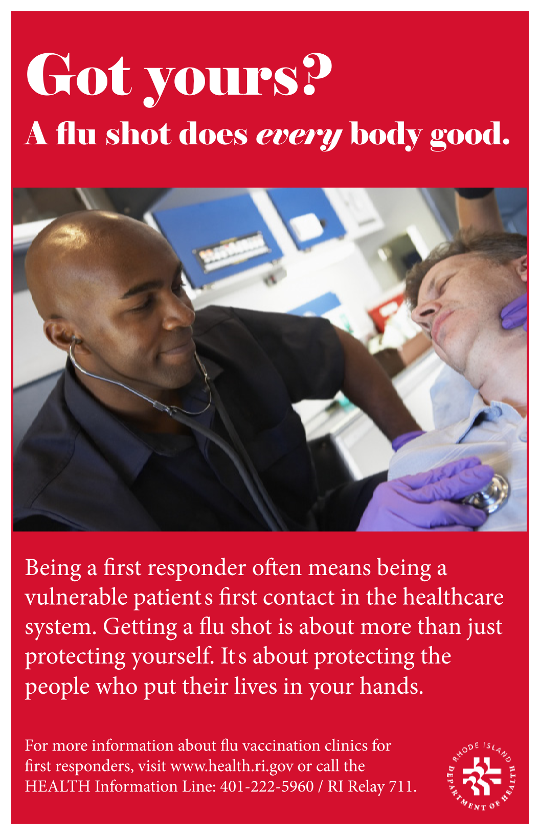 Flu vaccination - First Responders (protect your patients)