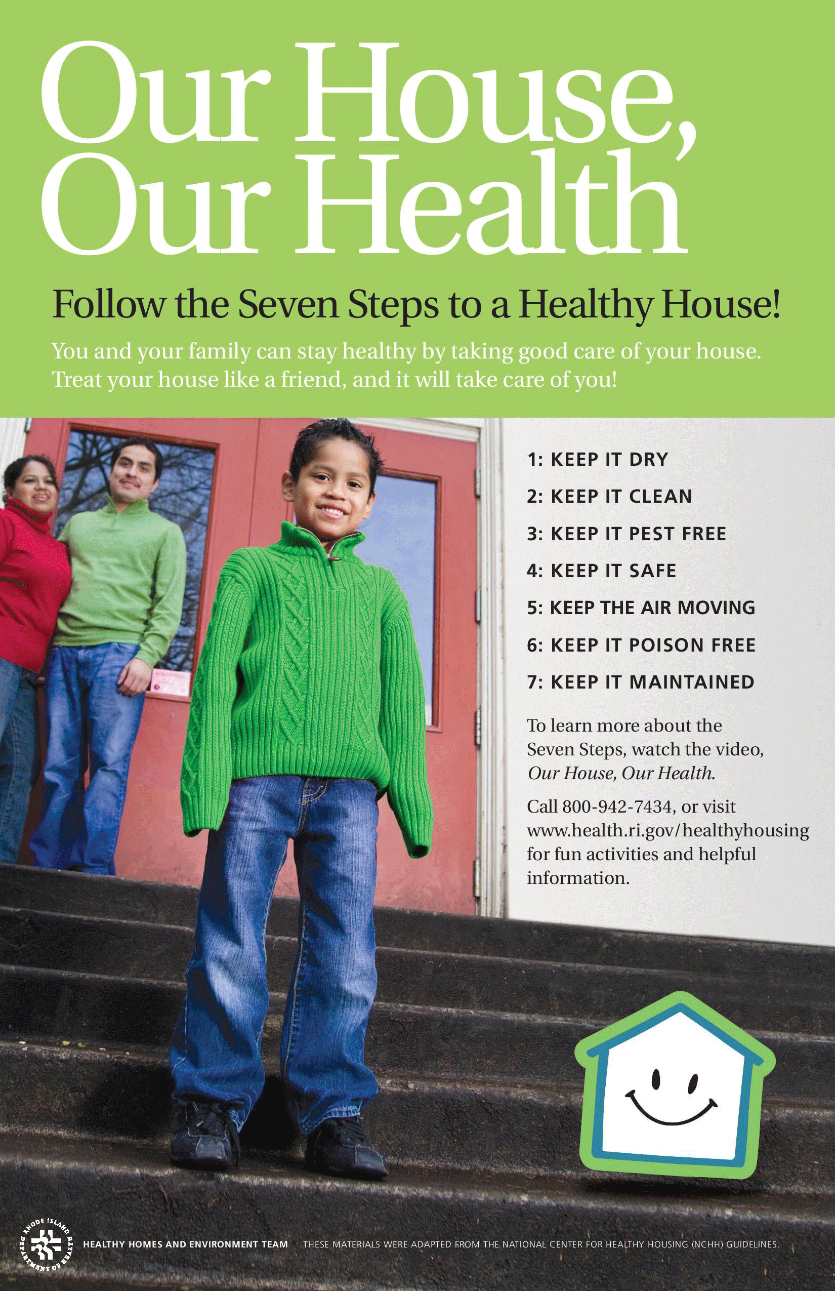 Our House, Our Home - Follow the 7 Steps to a Healthy House!