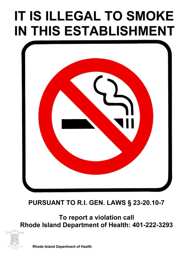 It is illegal to smoke or vape in this establishment
